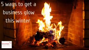 image of glowing fire to illustrate a warm place to work