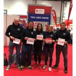 photo of athletes who ran London Marathon to support RNLI port Issac