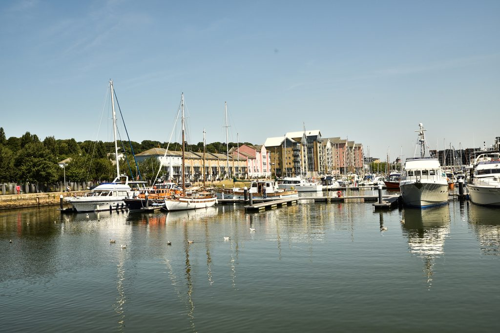 the Marina at Portishead